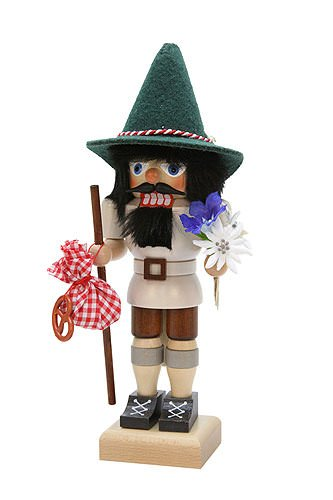 German Christmas Nutcracker Bavarian Hiker - 28,5cm / 11 inch - Christian Ulbricht by Ulbricht