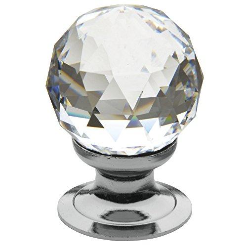 Baldwin Estate 4334.260.S Cut Swarovski Crystal Ball Cabinet Knob in Chrome ()