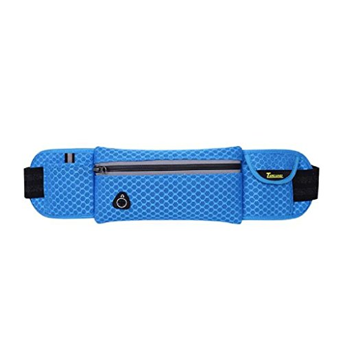 [Laimeng, Unisex Travel Running Cycling Waist Sports Pack Belt Bag Phone Pouch (Blue)] (Soda Mini Costumes)