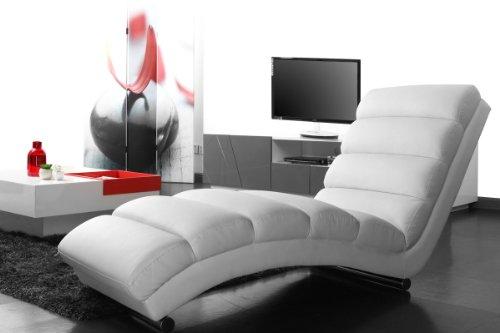 miliboo chaise longue fauteuil design blanc taylor amazonfr cuisine maison - Fauteuil Chaise Longue