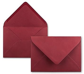 25x St/ück Karte-Umschlag-Set Einzel-Karten Din A7 10,5x7,3 cm 240 g//m/² Hochwei/ß mit Brief-Umschl/ägen C7 Nassklebung ideale Geschenkanh/änger