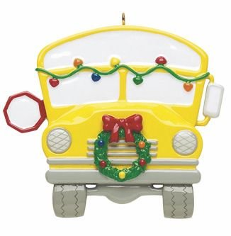 Personalized School (School Bus Personalized Christmas Tree Ornament-Free Personalization and Gift Bag!)