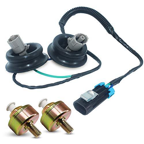 2 Pcs Knock Sensor Connector Harnnes Replace 12601822 12589867 Compatible  with GMC Chevy Silverado Sierra Cadillac