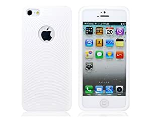 Fingerprint Pattern Silicone Protective Case for iPhone 5 (White)