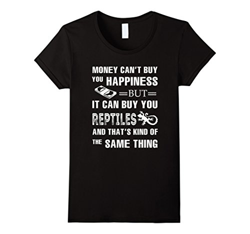 Womens Money can buy you Reptiles T Shirt Large Black