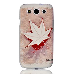 get Maple Leaves Embossment Painting Pattern Plastic Hard Back Case Cover for Samsung Galaxy S3 I9300