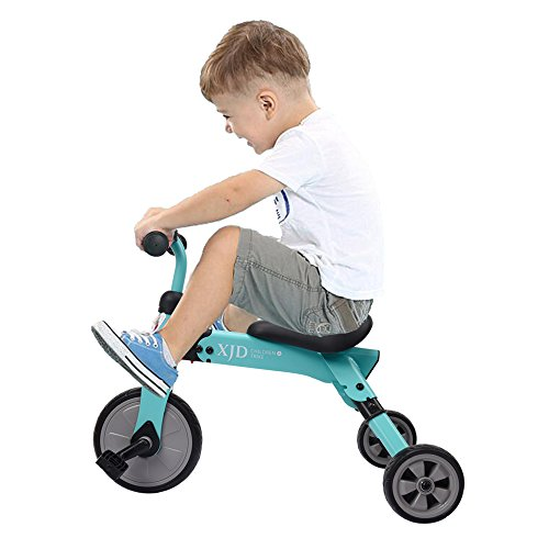 XJD 2 in 1 Baby Balance Bike and Trike Foldable Kids Tricycles Toddler Riding Toys for 2 + Years Old Girls or Boys (Blue)