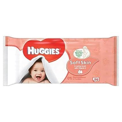 Toallitas húmedas Huggies Soft Skin (paquete de 56 unidades)
