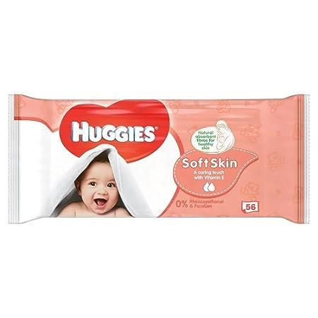 Toallitas húmedas Huggies Soft Skin (paquete de 56 unidades): Amazon.es: Salud y cuidado personal