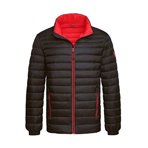 Rokka&Rolla Men's Ultra Lightweight Packable Puffer Down Jacket (XL, Rich Black)