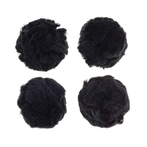 Darice Bulk Buy DIY Acrylic Pom Poms Black 3 inches 4 Pieces (6-Pack) 10181-90