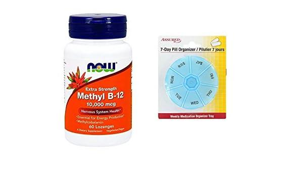Amazon.com: AHORA metilo B-12 10.000 mcg, 60 tabletas: Health & Personal Care