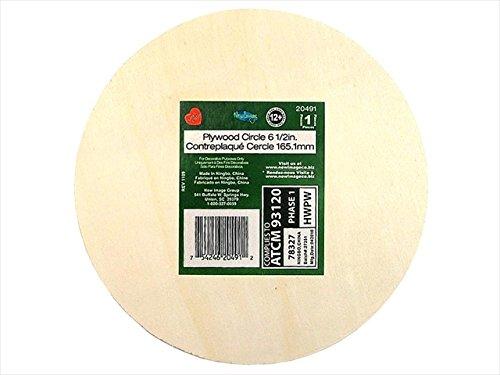 - Laras Crafts-New Image Design LAR20491 6.5 X 0.12 in. Wood Bulk Plywood Circle - 12 Piece