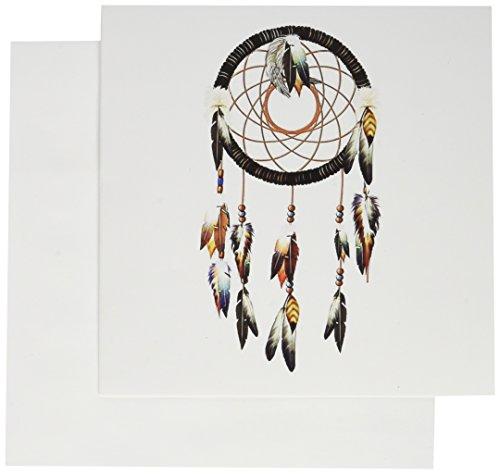 3dRose Native American Inspired Dream Catcher Design - Greeting Cards, 6 x 6