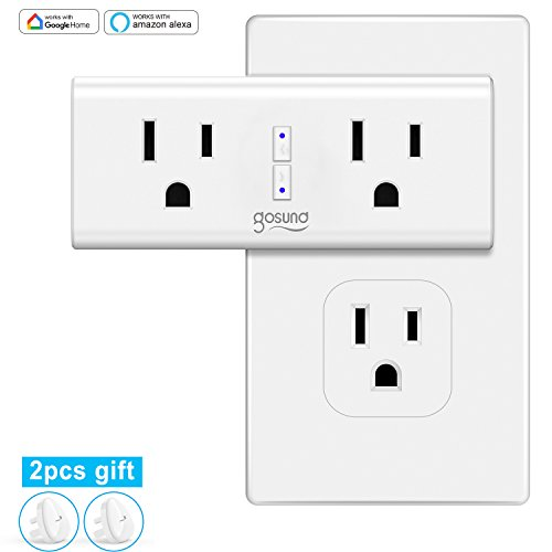 Wi-Fi Smart Plug Outlet Mini for Alexa, Google Assistant, IFTTT, No Hub Required, ETL and FCC Listed by Gosund (1 Pack) by Gosund