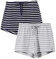 Femofit Pajama Shorts for Women 2 Pack Sleep Shorts for Women Lounge Shorts Women Sleep Shorts S~XL