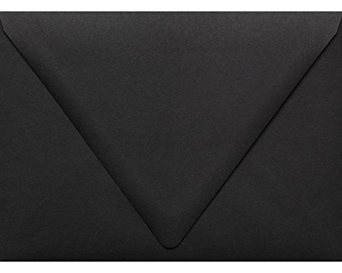 (A7 Contour Flap Envelopes (5 1/4 x 7 1/4) - Midnight Black (50 Qty) | Perfect for Invitations, Announcements, Sending Cards, 5x7 Photos | 1880-B-50)