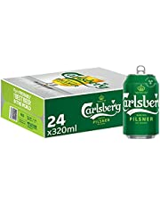 CARLSBERG Danish Pilsner Beer Can, 320 ml (Pack of 24)