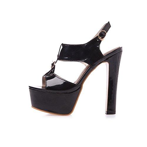 para Adee negro Sandalias mujer vestir de HAq8w7T