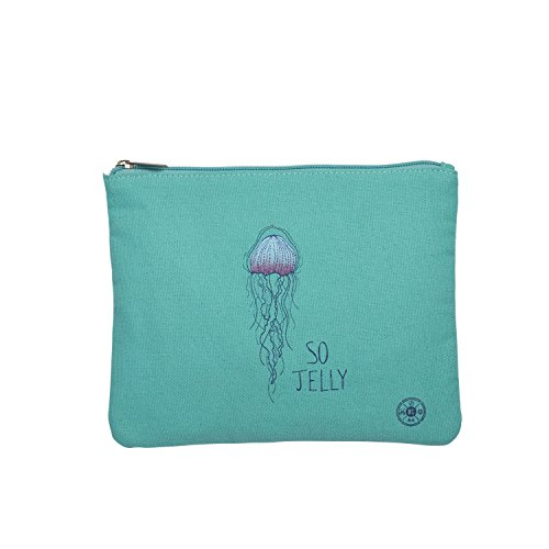 Beachcombers 8.5 Inches x 7 Inches x .25 Inches Teal So Jelly Zip Top Bag Apparel Accessories by Beachcombers