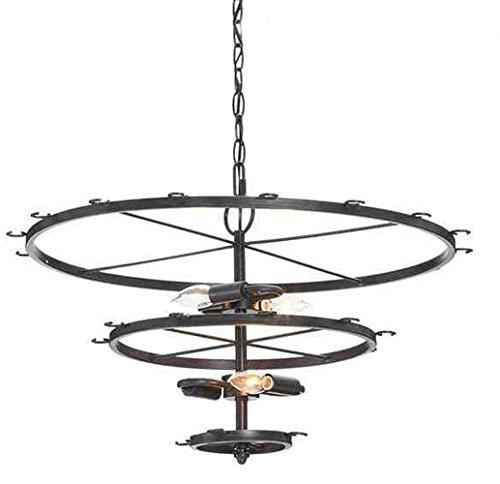 Single Swing Arm Floor Lamp (Siminda 240 Wat t4 light bulbs Wine Cups Ceiling Lights 3 Floors 6 Bulbs Clear Glass Cups Iron Pendant Lamp 23.6Inch)