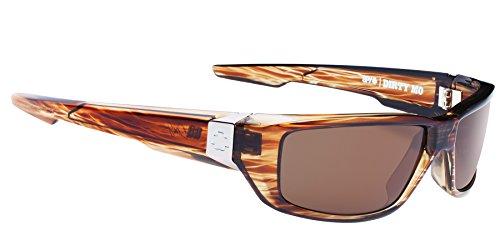 Spy Optic Dirty MO Flat Sunglasses, Brown Stripe Tortoise, 59 - Sunglasses Tortoise Spy