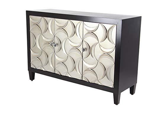 Deco 79 39874 Contemporary Wood and Metal 3-Door Cabinet, 16