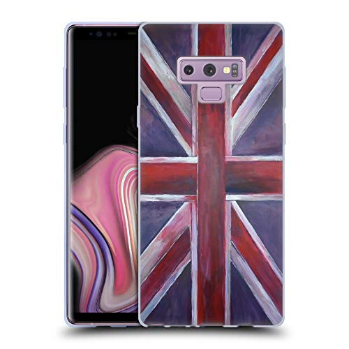 (Official Magdalena Hristova Painted Union Jack Soft Gel Case for Samsung Galaxy Note9 / Note)