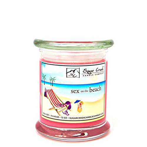 Sugar Creek Candles Sex on the Beach (JUST LIKE THE BEACH DRINK)-100% Soy Wax Candle. Soy Candles Burn Cleaner ~ Longer ~ Non-Toxic ~ THE ORIGINAL 100% Yinzer Made in USA by Sugar Creek Candles