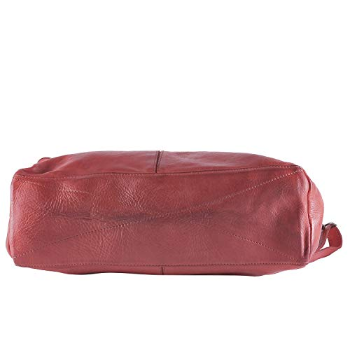 Da 100 Borsa Italy Borderline Vintage Stile Rosso Adele Donna Pelle Made Vera In dWRpWXnq