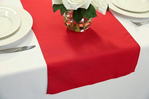 Zhen Linen Wedding Table Runners 14 x 72 inch (Red) (Linen Red Plum)