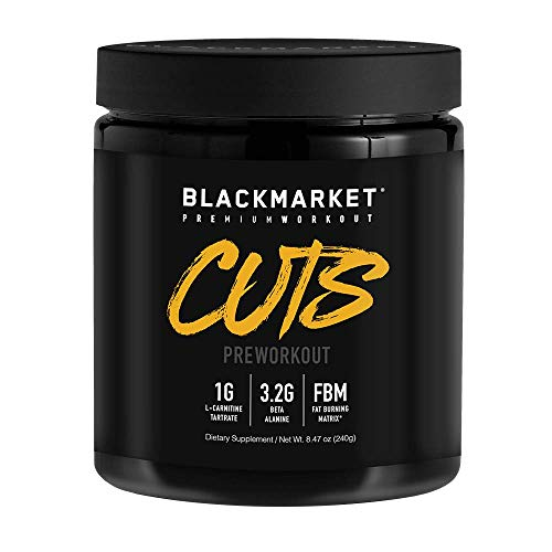 BLACKMARKET AdreNOlyn CUTS Pre Workout, Blue Razz, 30 Servings, 240g