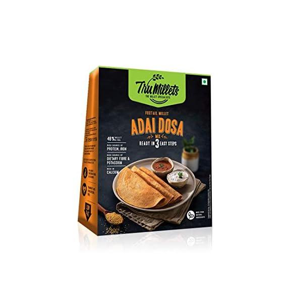 Trumillets | Healthy Millet Diet Breakfast | High Protein Adai Dosa Mix - 250g (Pack of 1)