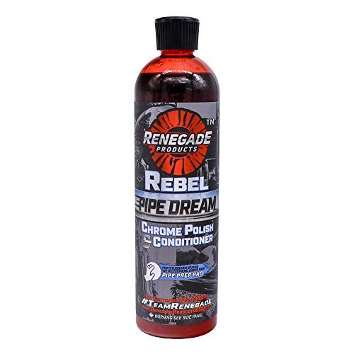 (Renegade Products USA Rebel Pipe Dream 12 oz Chrome Polish Conditioner and Cleaner for Chrome Pipes, Stacks, Exhaust and Everything in Between)