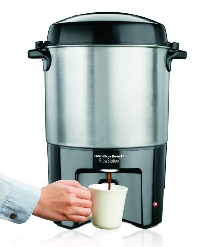 Hamilton Beach 40540 Brew Station 40-Cup Coffee Urn, Silver (40 Cup Coffee Filters compare prices)