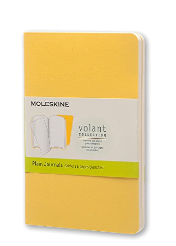 Price comparison product image Moleskine Volant Journal Plain Pocket,  Sunflower / Brass Yellow (8051272890457)