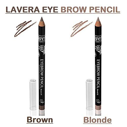Lavera, Blonde Eyebrow Pencil - Long-Lasting Define, Fuller, Natural-Looking Brows, Easy to Sharpen, Organic, Vegan