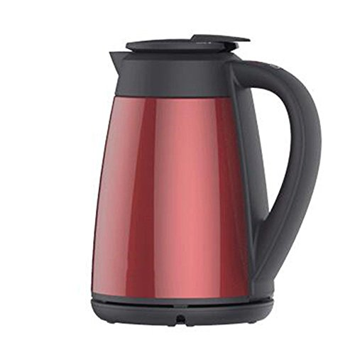 GJY Electric Kettle Stainless Steel Red Double Anti-Hot 1800W 1.5L Automatic Power off Insulation Home Travel Electric Kettles