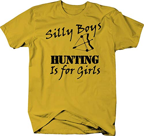 Lifestlye Graphix Silly Boys Hunting is for Girls Bow Archery Color Tshirt - Small