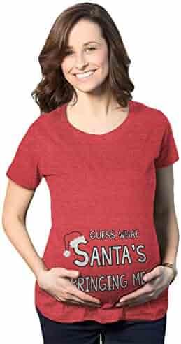 9f64f4729ca35 seller: Crazy Dog Tshirts. (21). Maternity Guess What Santas Bringing  Holiday Funny Christmas Pregnancy T Shirt