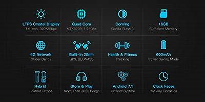 Zeblaze Thor 4 Pro 4G SmartWatch 1,6 Pulgadas Pantalla de Cristal ...
