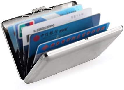 Hongyantech Tarjeta de crédito Caja de Acero Inoxidable Anti ...