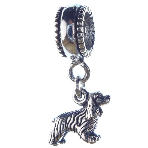 Cocker Spaniel Standing Smaller Sterling Silver Dangle Dog Charms