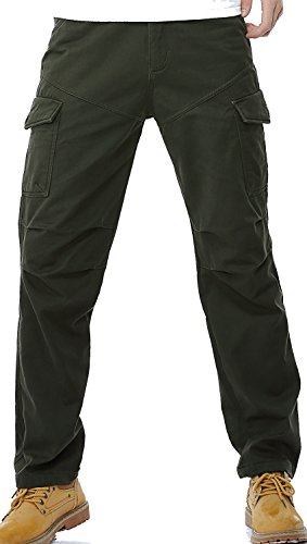AOYOG-Thicken-Mens-Winter-Fleece-Lined-Cargo-Pant-Windproof-Work-Pants