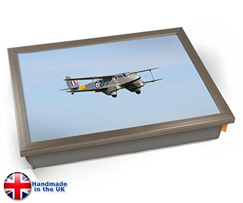 KICO DH89 Dragon Rapide de Havilland Aviation Plane Cushion Lap Tray - Chrome Effect Frame
