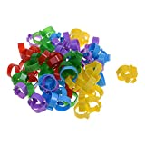 100pcs 5 Color Poultry Leg Bands Bird Chicks Ducks Chicken Clip-on Rings -13/16inch