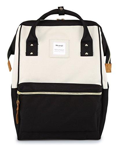 (Himawari Travel Backpack Laptop Backpack Large Diaper Bag Doctor Bag Backpack School Backpack for Women&Men (XK White & Black))