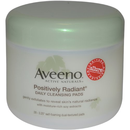 Aveeno Active Naturals Positively Radiant Cleansing Pads 28 Count - 1