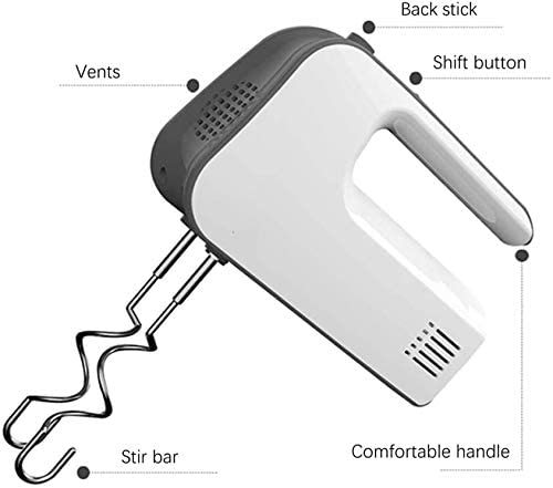 Logo Électrique Eggbeater, Mini Cuisson Régulation Automatique à la Main Tenue Blender, Vitesse à Cinq Vitesses, for la Cuisine Cuisson gâteau Mini Oeuf crème Alimentaire Batteur