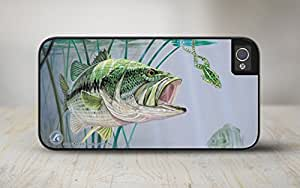 """50-5000-""""Bass and Leopard Frog"""" Fishing iPhone 5 Case, iPhone 5s Case, Protective Phone Cases"""